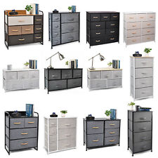 Cerbior Bedroom Storage Dresser Tower Shelf Organizer BinsCabinet Fabric Drawers