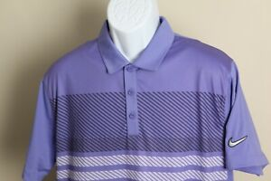 Nike Golf Men's lavender and gray detailed Sport short sleeve polo shirt Large L