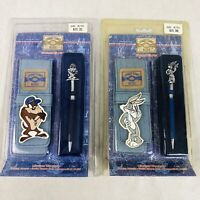 Vintage Looney Tunes Blues Character Pen Lot x 2 Pens Taz Bugs Bunny 1997 Sealed