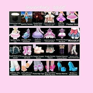 Royale high inventory sale! Skirts, heels, wings, accessories and more!