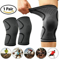 2Pcs Knee Sleeve Compression Brace Support For Sport Joint Pain Arthritis R I2