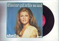 disque 45 tours   sheila - l'amour qui brule en moi / la voiture
