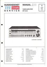 ITT/Graetz Service Manual für HiFi 8033