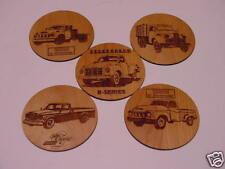 Studebaker Trucks Wood Coaster Set 5 pcs. Laser Eng.