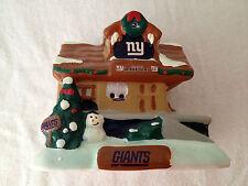 Ny New York Giants Team Train Station Railway Holiday Village Christmas House