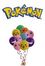 "10 x Pokemon, multi character Printed Latex Party Balloons 12"" UK SELLER"
