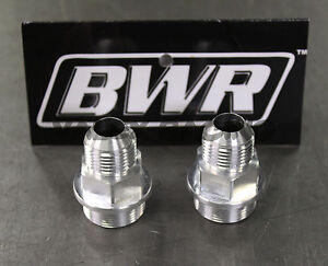 Blackworks BWR M28 to -10 AN Block Fittings (Pair) for Honda / Acura B Series