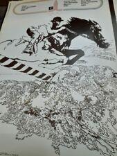 EQUESTRIAN original sport poster Olympic  Moskow 1980