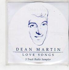 (FQ637) Dean Martin, Love Songs 3 track sampler - 2002 DJ CD