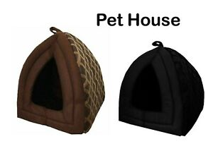 Cat Small Dog House Bed Kitten Pet Igloo Box Cave Puppy Sleeping Cosy Hut