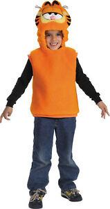 Garfield Vest Child Boys Costume Vest With Hood Halloween Dress Up Disguise