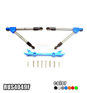 Aluminum Front Tie Rods with Stabilizer for Traxxas Rustler 4X4 VXL Upgrade Part