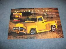 "1956 Ford F-100 Pickup Resto-Rod Article ""Shindelus' List"" F100"