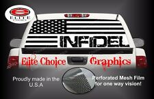 Infidel Military American Flag Rear Window Graphic Decal Sticker Truck Car SUV