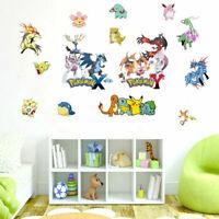 Pokemon Collection Wall Stickers Kids Wall Art Game Decal Nursery Decor Cartoon