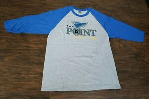 Mens Gildan Rizzuto Show Night St. Louis Blues Baseball Style Shirt Small S Gray