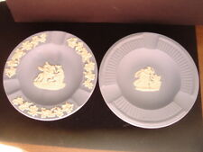 Wedgwood Jasperware Ash Trays Lot of 2 Pin Dishes Blue Made in England