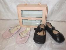 BABY BLOCH Girls BABY LAUREL Black & PINK BALLET SLIPPERS Shoes 19 4 21 6