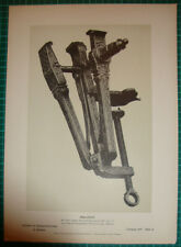Antique print Vise Vice - Schraubstock stich 1886 Knorr & Hirth druck