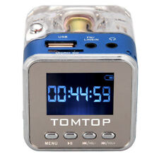 Mini Portable USB LCD Music Angel Cube Speaker PC MP3 FM Radio SD/TF Card UKShip