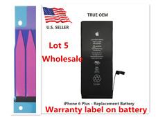 Lot Of 5 Oem Original Battery Replacement 2915mAh For iPhone 6 Plus Adhesive