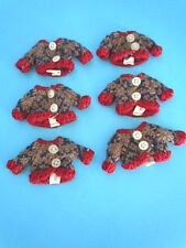 Wholesale Lot of (6) Tiny Knit Sweaters for a Miniature Teddy Bear / Doll