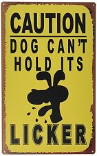 Ohio Wholesale Dog Licker Caution Sign Wall Art, from our Humor Collection New