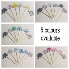 Multi-Colour Cupcake Picks Cake Toppers