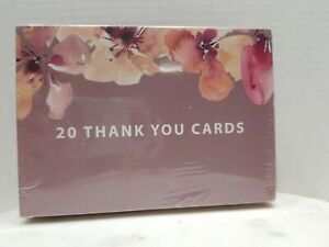 Nora's Nursery watercolor Dusty Rose Thank You Cards & envelopes 20 New 5x7