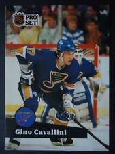 NHL 218 Gino Cavallini St. Louis Blues Pro Set 1991/92