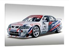 Nissan Primera Touring Car 30x20 Inch Canvas - Framed Picture Print BTCC