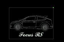 XXL Leuchtschild aus Acrylglas mit Lasergravur Ford Focus RS