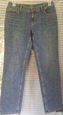 J. Jill Women's Blue Denim Relaxed Fit Boyfriend Cut 100% Cotton Jeans Size 6