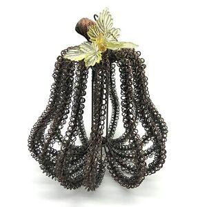 Copper Wire Pear Decor Coil Loops Antiqued Metal Sculpture Art Rare Unique Fruit