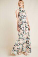 New Anthropologie Nicole Miller Serena Halter Maxi Dress Size 6