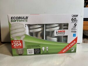 FEIT Electric  CFL Bulb  13 watts 900 lumens Soft White  4 bulbs