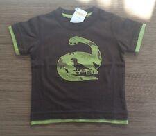 Gymboree Dino Mighty Top Camo Brontosaurus Brown Shirt 12-18 Nwt