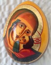 Madonna & Baby Jesus Sovak Russian Imported Wooden Egg