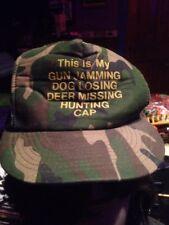CAMO HUNTING GUN JAMMING DOG LOSING SNAP BACK CAP HAT