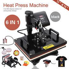 6 in 1 Digital Heat Press Machine Transfer Sublimation For T-Shirt/Mug/Hat Plate