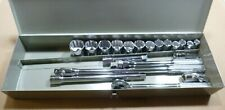 """Mil-Spec 21Pc Made In USA 12Pt 1/2"""" Drive Socket Wrench Set 7/16"""" thru 1-1/4"""""""