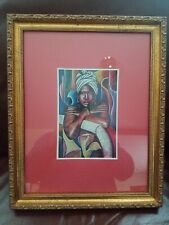 "Alix Beaujour African American Framed  Art Print 13"" x 16"" Image 7.5"" x 5"""