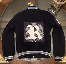 Ralph Lauren Rugby Wool & Leather Varsity Womens Jacket Sz Small New W Tags Navy