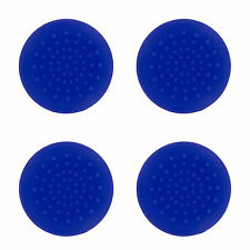 4 X ANALOGUE STICK THUMB GRIPS BLUE FOR SONY PLAYSTATION DUALSHOCK 4 CONTROLLER