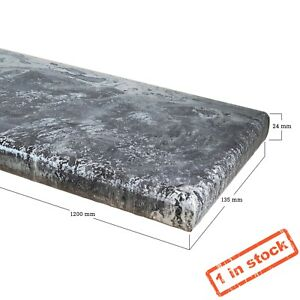 Floating Resin Coated Console Shelf With Fixings - Silver Mist - 120x13.5x2.4