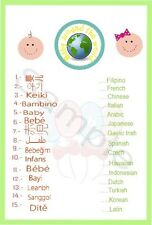 Baby Shower Babies Around The World Game 10 A5 Game Sheets