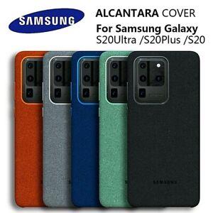 Genuine Alcantara Luxurious Case For Samsung Galaxy S20  / S20 Plus / S20 Ultra