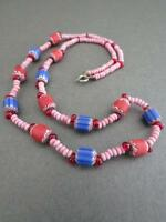 Vintage Murano Venetian Chevron Glass Necklace