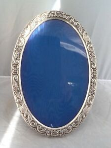 Large Silver Rococo Style Oval Picture Photo Frame - Birmingham 1988