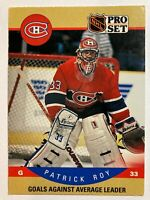 1990-91 Pro Set Leader - PATRICK ROY #399 Montreal Canadiens